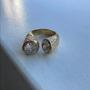 Nadri Double Stone Ring